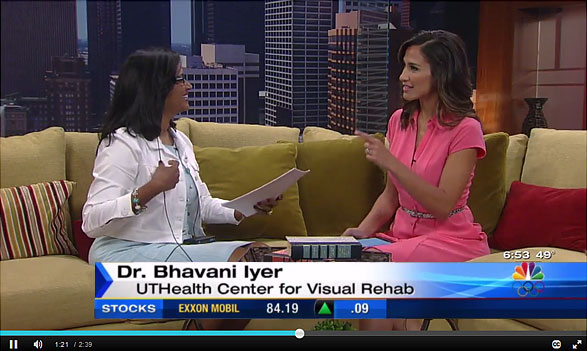 screenshot of Dr. Iyer's interview at KPRC