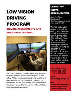 Driving Program flyer image
